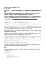 væsentlige ændringer i bygningsreglementet - Kalundborg Kommune
