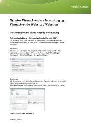 Versjonsnyheter - Visma Spcs AB
