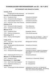 EVANGELISCHER KIRCHENANZEIGER vom 13. - Evangelische ...