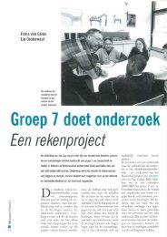 Groep 7 doet onderzoek Een rekenproject - jsw
