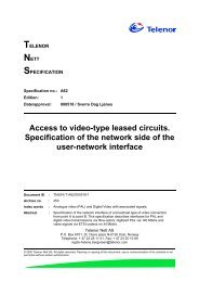 Access to video-type leased circuits. Specification of the ... - jara.no