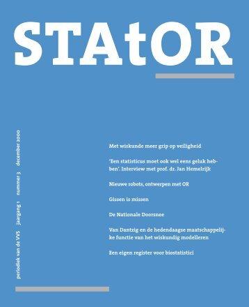 periodiek van de VV S jaarg ang 1 nummer 3 december 2000 Met ...