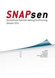 Socialistiske Nyheder Aalborg Partiforening Oktober 2011 - SF