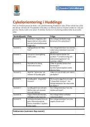 Cykelorientering i Huddinge - Huddinge kommun