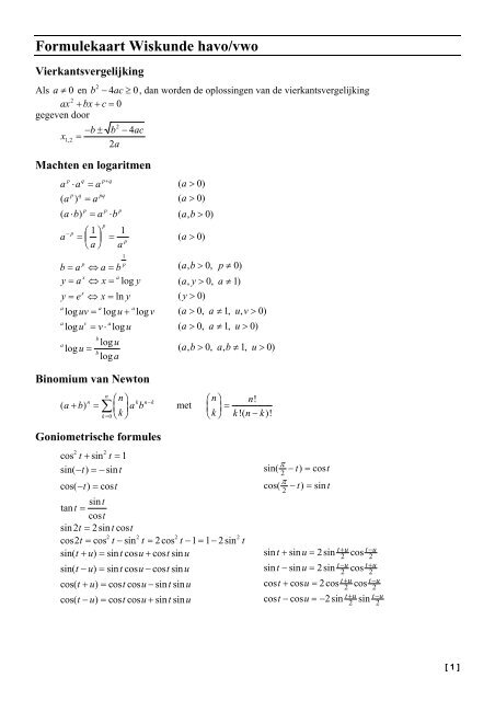 wiskunde havo vwo 1