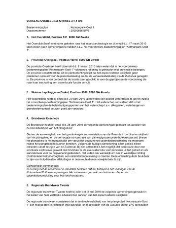 Bijlage 2 Verslag Vooroverleg - ruimtelijkeplannen.enschede.nl ...