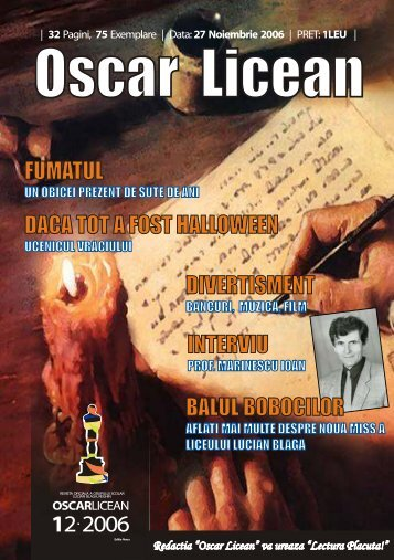 Oscar Licean - Grup Scolar Lucian Blaga Reghin