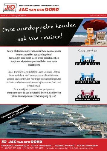 Klik hier voor onze Cruiseboot Special flyer - Jac van den Oord BV