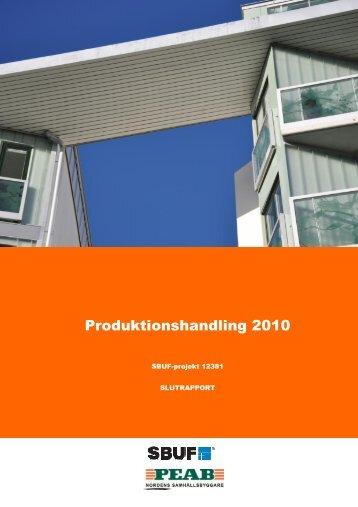 SBUF 12381 Slutrapport Produktionshandling