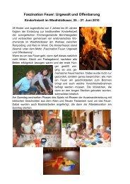 Faszination Feuer: Urgewalt und Offenbarung - Evangelische ...