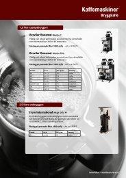 Kaffemaskiner, bryggkaffe - Martin & Servera