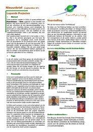 T@d - Nieuwsbrief September 2007 - Terr@dialoog vzw