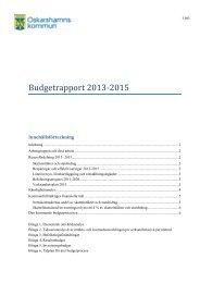 Budgetrapport 2013-2015 - Oskarshamn