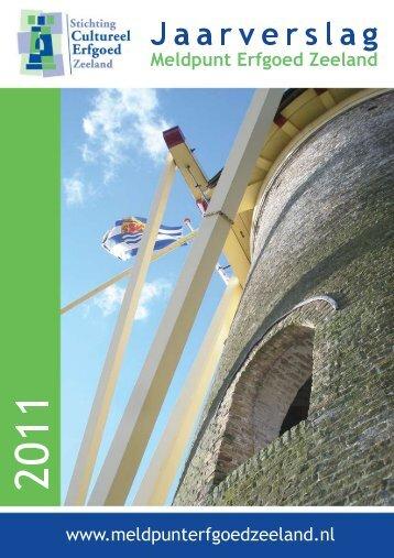 Meldingen in 2011 - Meldpunt Erfgoed Zeeland