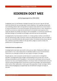 verkiezingsprogramma 2010-2014 PvdA ... - PvdA Rotterdam