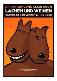 Download het programmaboekje (923 kB) - Haarlems Klein Koor