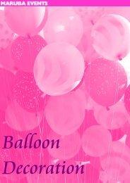 Balloon Decoration - Maruba Events