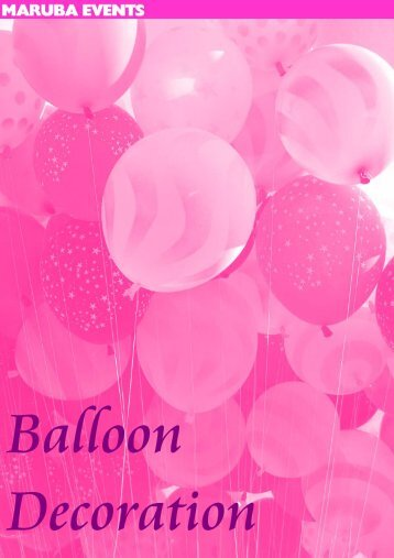Balloon Decoration - Maruba Events