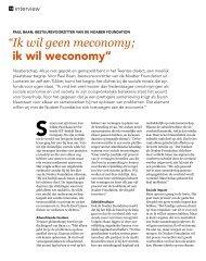 Lees het hele interview in Start magazine... - Noaber foundation