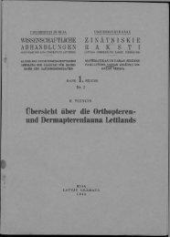 und Dermapterenfauna Lettlands - DSpace