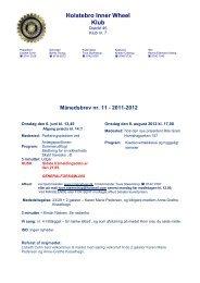 Månedsbrev nr. 11 - Holstebro-InnerWheel