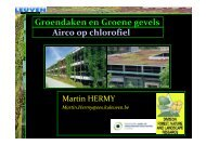 Airco op chlorofiel Groendaken en Groene gevels - duwobo