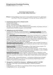 22. november 2005 - Klyngehusenes Grundejerforening