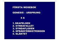 första mosebok genesis – ursprung 5 s 1.skapelsen 2. syndafallet 3 ...