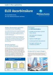 Fachinformation Ascorbinsäure, zum download als PDF (454 KB)