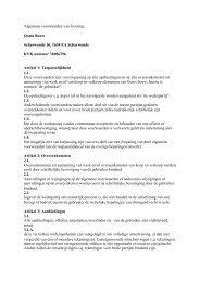 Algemene voorwaarden van levering - Ooms Bouw & Ontwikkeling