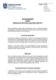 Bilag 1 Samarbejdsaftalen - Københavns Kommune