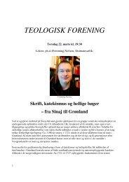 TEOLOGISK FORENING - Ilisimatusarfik