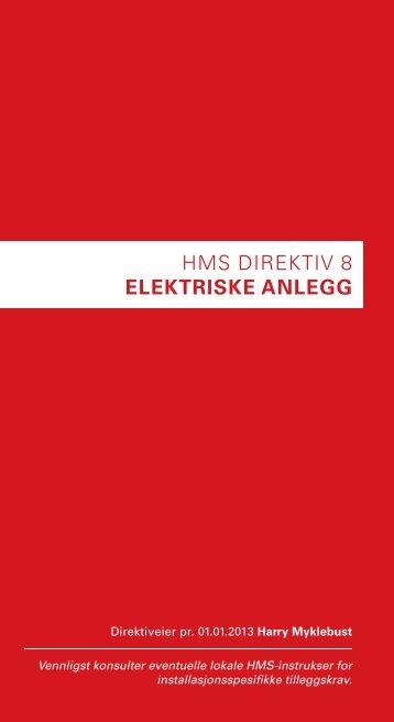 HMS DIREKTIV 8 ELEKTRISKE ANLEGG - BP