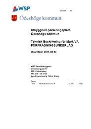 Utbyggnad parkeringsplats Ödeshögs kommun Teknisk Beskrivning ...