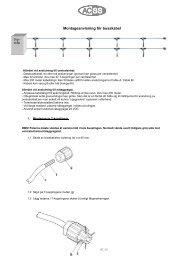Drift och underhållsanvisning för Aqua Duschpanel ... - ACSS Sanitet