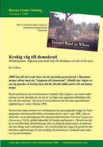 Svensk PDF (250 KB) - Burma.nu