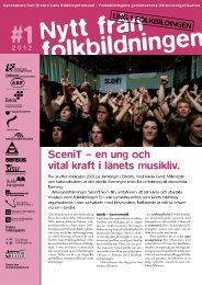 SceniT – en ung och vital kraft i länets musikliv. - Örebro läns ...
