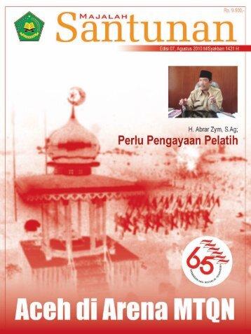 Majalah Santunan edisi Agustus 2010 - Kanwil Kemenag Aceh