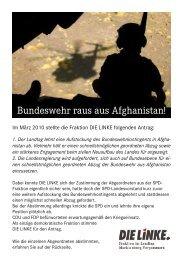 Bundeswehr raus aus Afghanistan! - DIE LINKE. Fraktion im ...