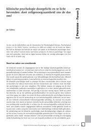 Klinische psychologie doorgelicht en te licht bevonden - Acco