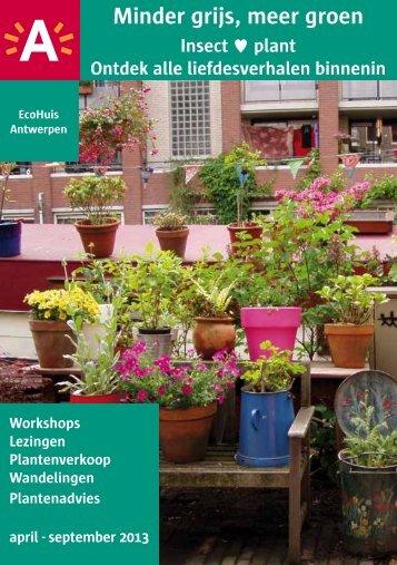 Brochure jaarprogramma 2013 ( pdf , 734.39 kB) - EcoHuis Antwerpen