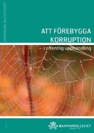 Att förebygga korruption i offentlig upphandling - Krus