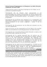 Staten-Generaal Burgemeesters en Schepenen van Halle-Vilvoorde ...