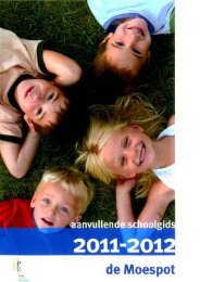 aanvullende schoolgids OBS De Moespot 2011-2012