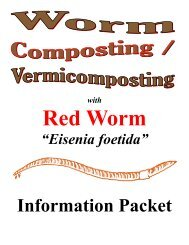 Worm Composting Vermicomposting Information Packet - Classroom