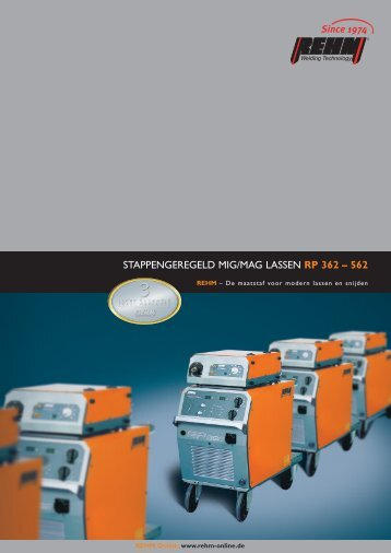 Professional, Stappengeregelde MIG-MAG lasmachines - Rehm