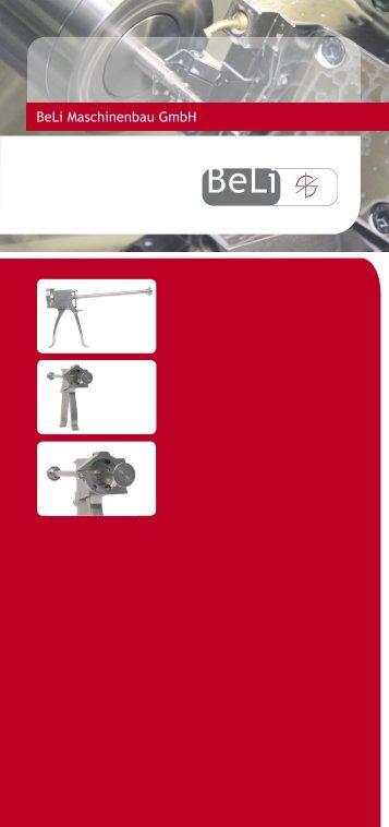 Imagebroschüre beli Gmbh - Beli Maschinenbau Gmbh