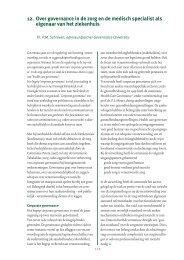 12. Over governance in de zorg en de medisch ... - Meeting2inspire