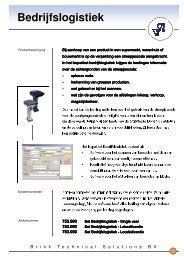 Folder Bedrijfslogistiek algemeen - Brink Techniek