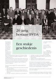20 jarig bestaan BVDA Een stukje geschiedenis